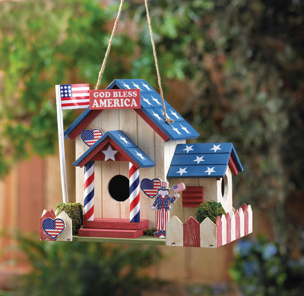 ETA 11/14/17 - PATRIOTIC BIRDHOUSE - Distinctive Merchandise