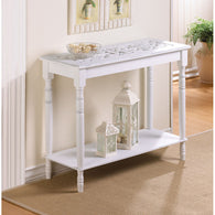 CARVED-TOP TABLE - Distinctive Merchandise
