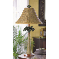 PALM TREE RATTAN LAMP - Distinctive Merchandise