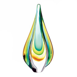 ART GLASS WATER DROP STATUE - Distinctive Merchandise