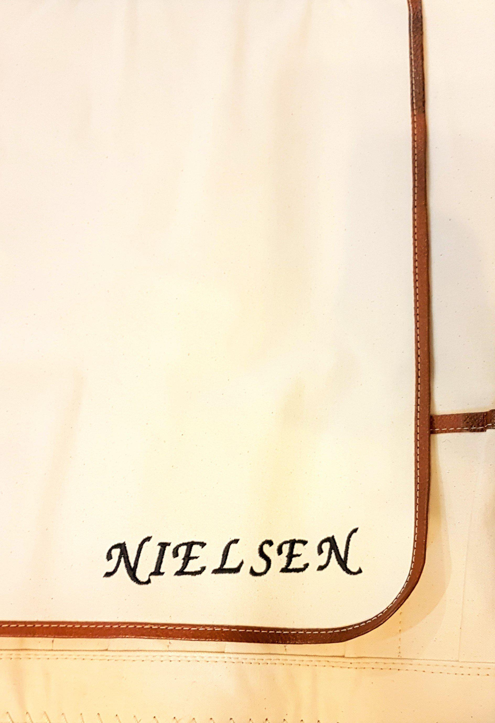 Personalized leather chef knife bag for gifts
