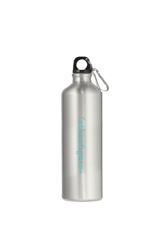 Father Figure water bottle aluminum to keep dads hydrated.