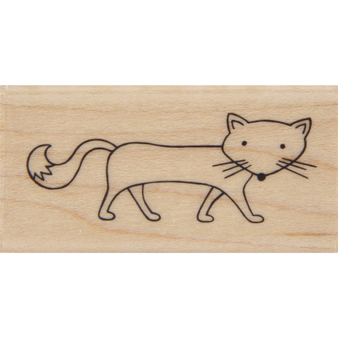 wood stamp - arctic fox