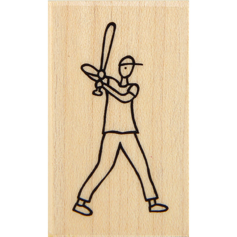 wood stamp - batter