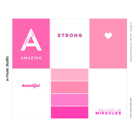 stamp out breast cancer - fight like a girl 2017 digital kit