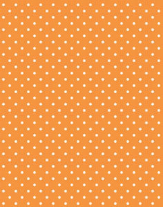 a|s cardstock - petite polka dot orange