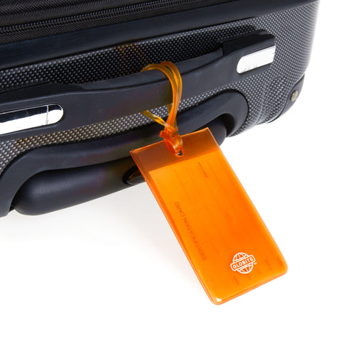 Jelly Luggage Tags 2pk - Orange - globitetravel