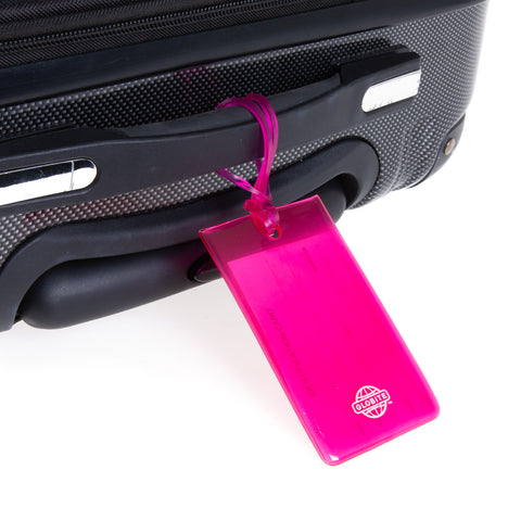 Jelly Luggage Tags 2pk - Pink - globitetravel