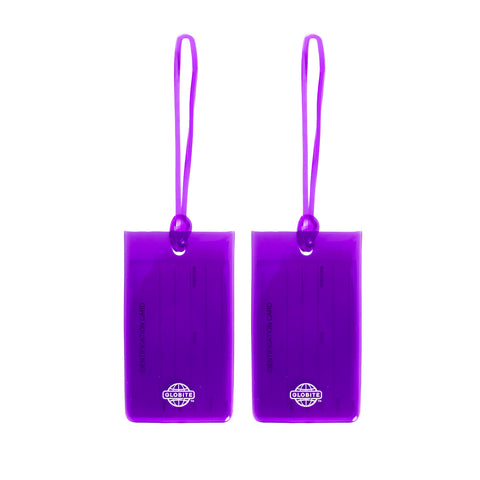 Jelly Luggage Tags 2pk - Purple - globitetravel