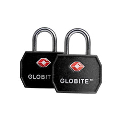 TSA Luggage Locks 2pk - Black - globitetravel