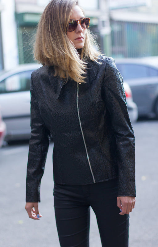 Black moto jacket - BastetNoir