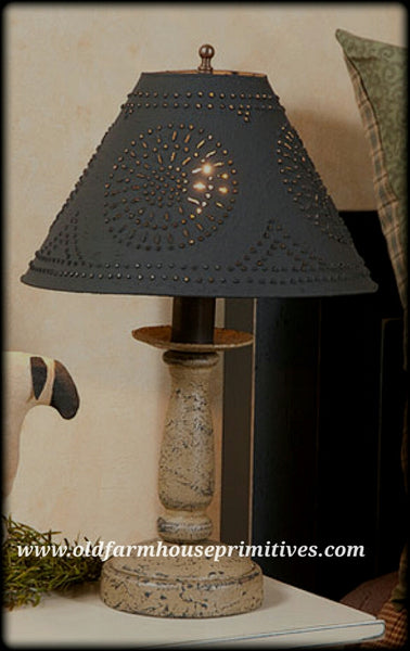 #PBL1 Primitive Butcher's Lamp Base in Textured Americana colors (Made In USA)