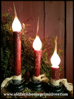 "#RJ1 Primitive ""Burgundy"" Electric Candlestick (Made In USA)"