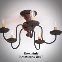 #9183 Primitive Thorndale Ceiling Light (Made In USA)