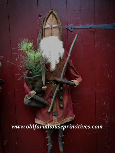 "#MA78 Primitive Father Christmas Santa ""OLDE BENNETT"" 🎅"