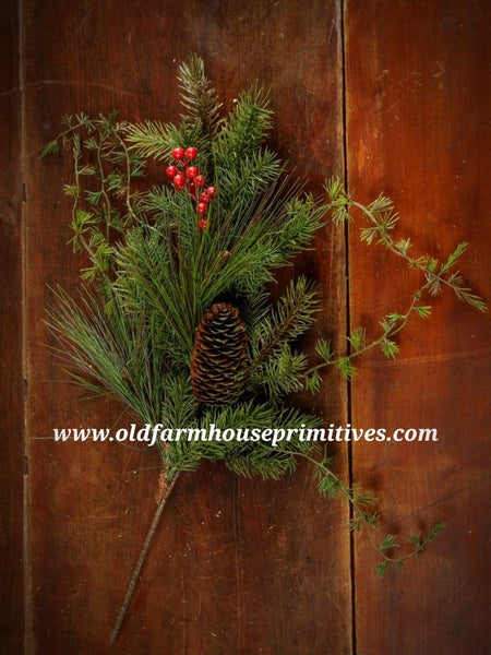 #RH29 Primitive Mixed Pine Spray With Berries