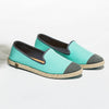 Classic Slip-On Aqua Femme ANGARDE cotton summer sunrise bleu vert vue biais