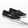 Classic Slip-On Black Femme ANGARDE cotton summer sunrise noire vue biais