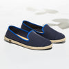 Classic Slip-On Navy Femme ANGARDE cotton summer sunrise bleu marine vue biais
