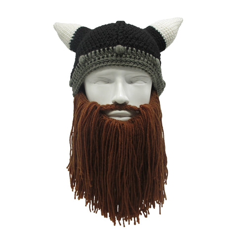 Fun Viking Beanie (Detachable Beard)