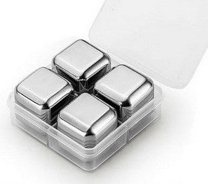 8 / 6 / 4 pcs Sets Stainless Steel Cooling Cubes
