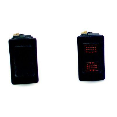 80400 - Rocker Switch/Momentary On/Non-Lighted/Black