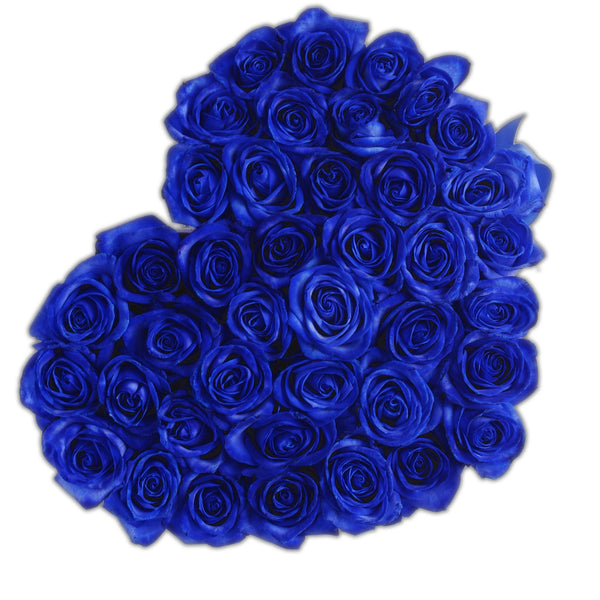 The Million Love Heart - Blue Eternity Roses - White Box - The Million Roses Europe