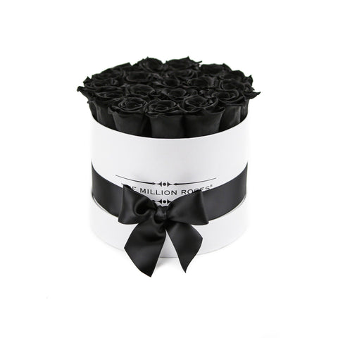 Classic - Black Eternity Roses - White Box - The Million Roses Europe