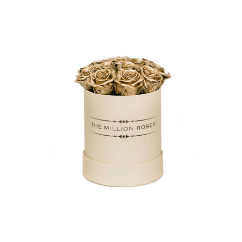 The Million Basic - Gold Eternity Roses - Vanilla Box - The Million Roses Europe