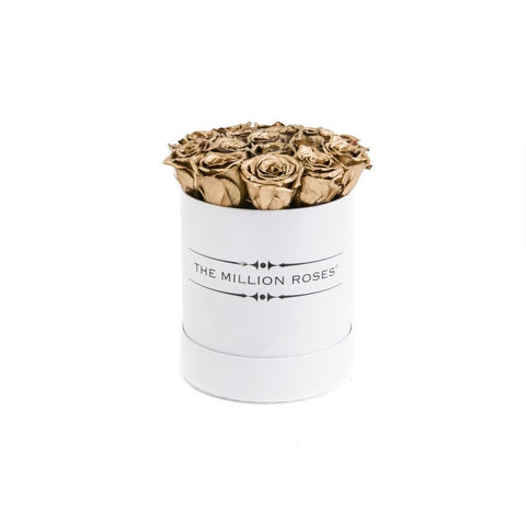 The Million Basic - Gold Eternity Roses - White Box - The Million Roses Europe