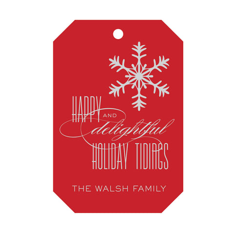Holiday Foil Gift Tag - T182
