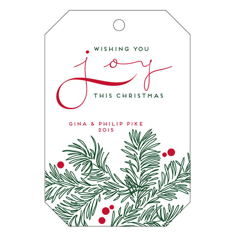 Holiday Letterpress Gift Tag - T34