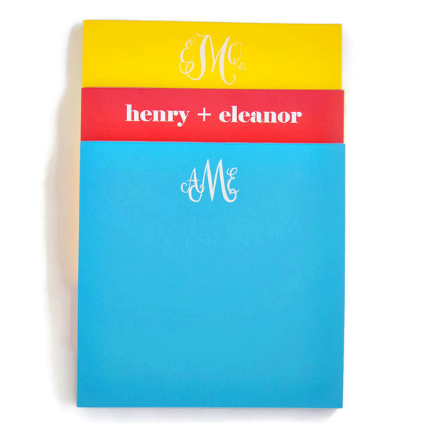 Personalized Square Primary Colors Notepad
