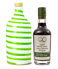 Olive Oil and Vinegar Gift Set | Muraglia CAPRI GREEN + QO ORGANIC Aged Balsamic Vinegar