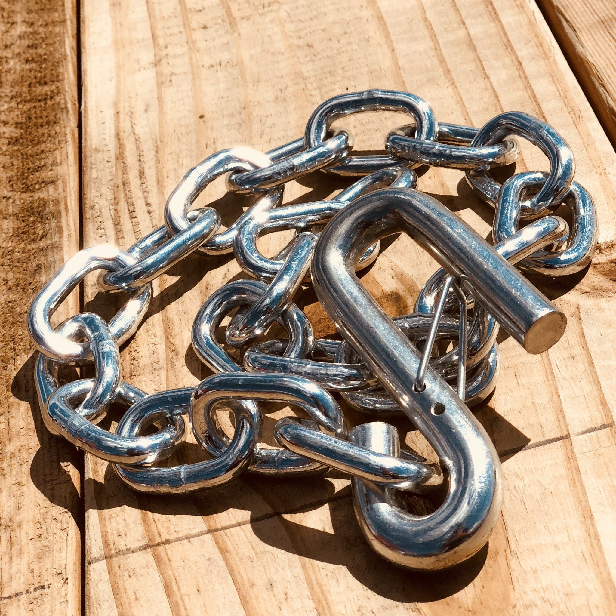 "Safety Chain w/ ""S"" Hook - 5/16"" x 30"" Trailer Safety, Security, & Accessories Nationwide Trailers Parts Store"