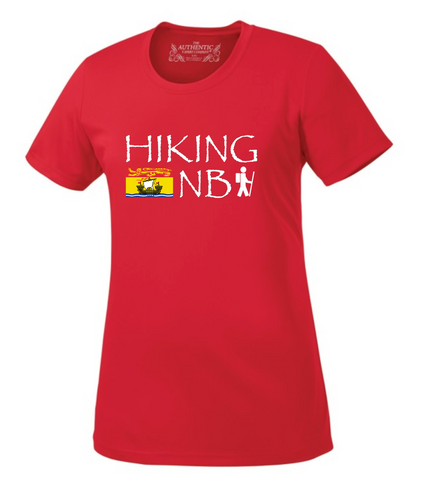 Hiking NB Ladies Performance T-Shirt - Wide Logo