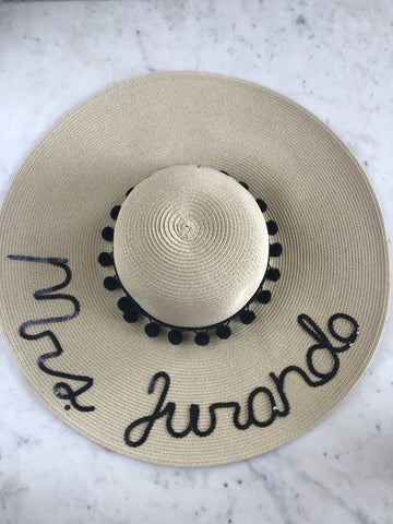 Sample - Natural Floppy Hat with Mrs. Jurando