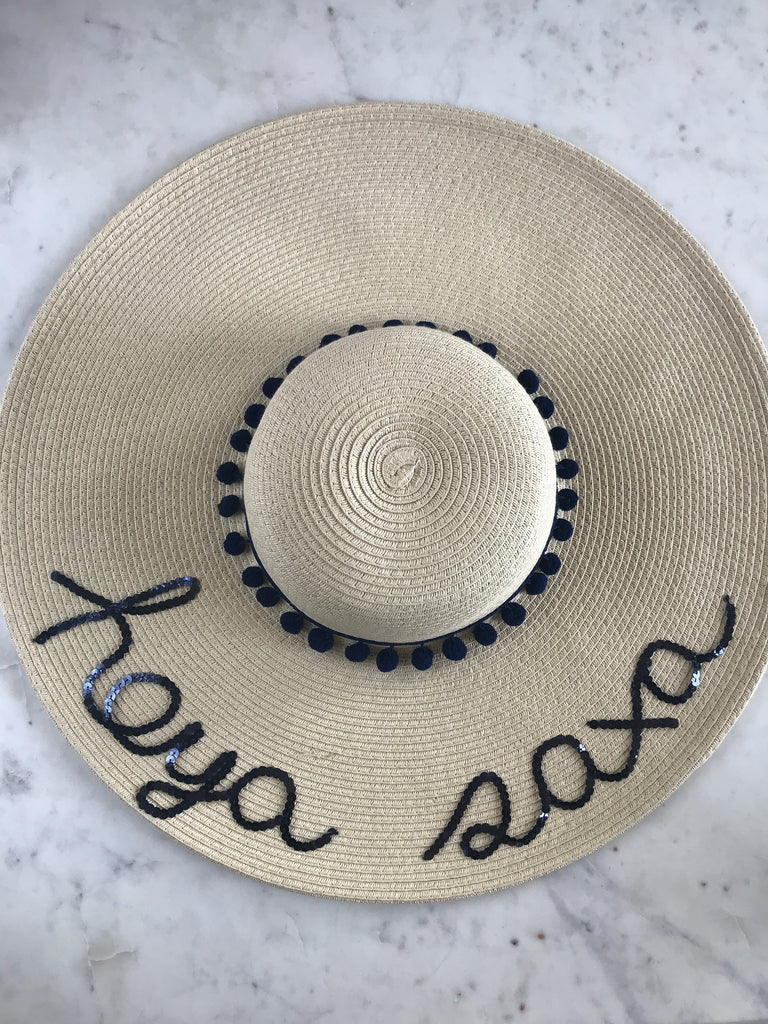 Sample - Natural Floppy Hat with hoya saxa