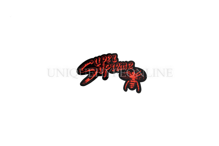 Super Supreme Bee Sticker Black