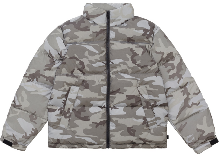 Supreme Reflective Camo Down Jacket FW18 Snow Camo