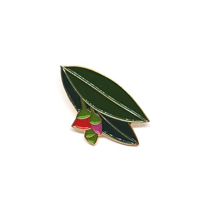 Pink Flowering Gum Enamel Pin by Patch Press