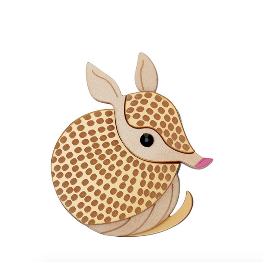 Armadillo Brooch by Little Moose
