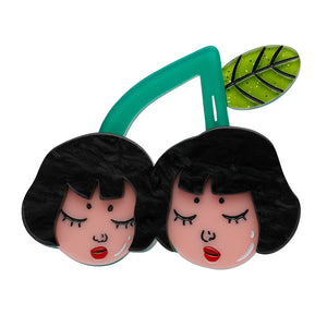 Cherry Twins Brooch by Erstwilder