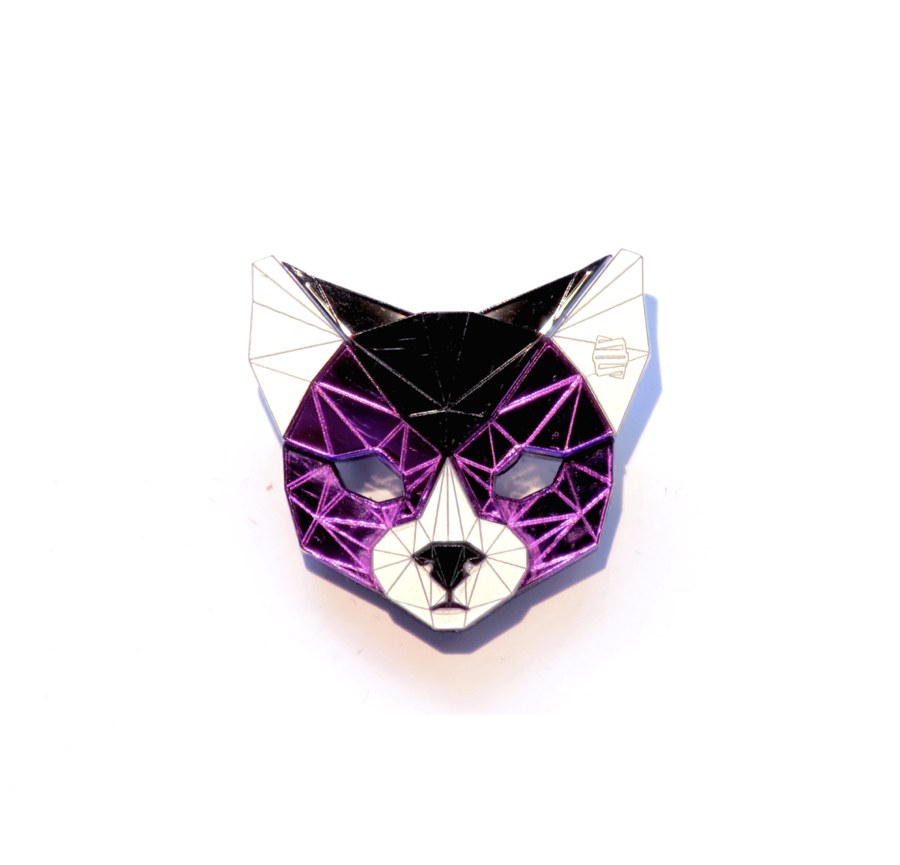 Cat Head Brooch (Alita) by Sstutter