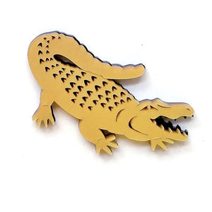 Alligator Brooch by Designosaur