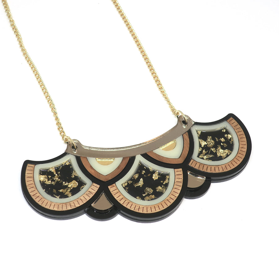 Deco Fan Statement Necklace by Rosa Pietsch