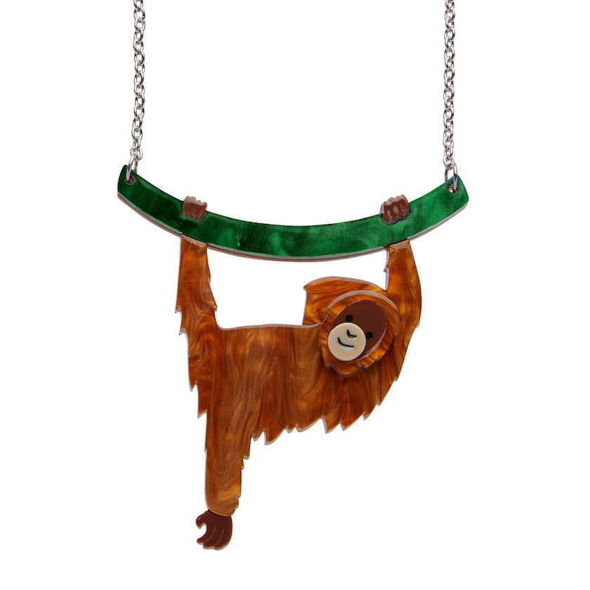 Hold On Louie Orangutan Necklace by Erstwilder