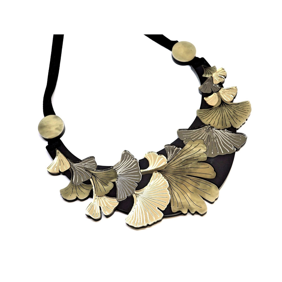 Gingko Leaf Large Statement Necklace by Rosa Pietsch