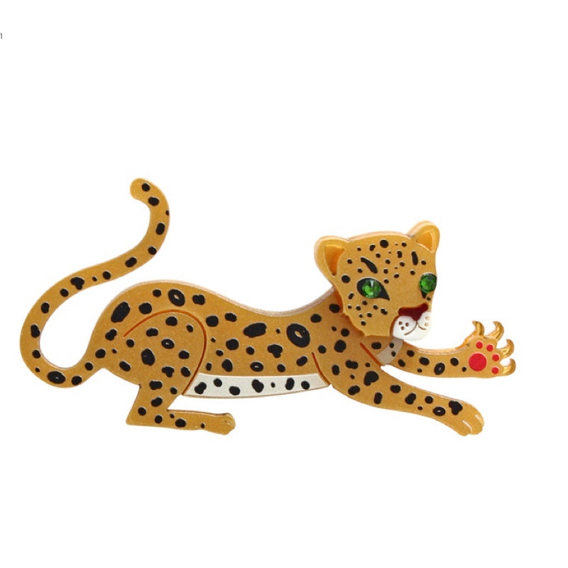 Leopard Brooch by Little Moose
