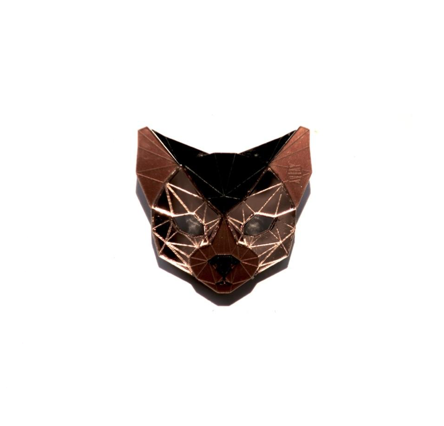 Cat Head Brooch (Rose Lux) by Sstutter